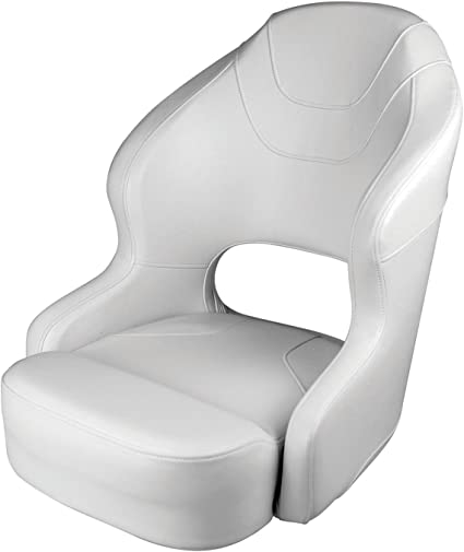 """folding adjustable pedestal Large high back boat seat seat height 18/"""" to 24/"""""""