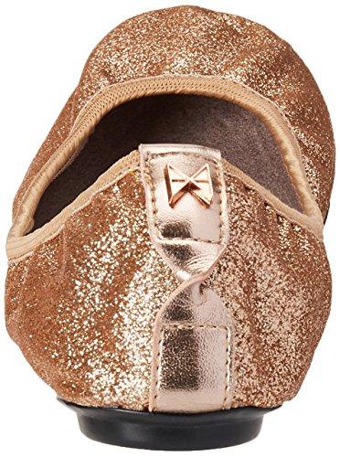 Butterfly Twists Women's Sophia Glitter Closed Toe Ballet Flats Rose Gold PfCbwm