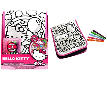 Image Unavailable. Image not available for. Colour  Sanrio Hello Kitty  Doodle Messenger Bag ... 3547f1d7f46b0