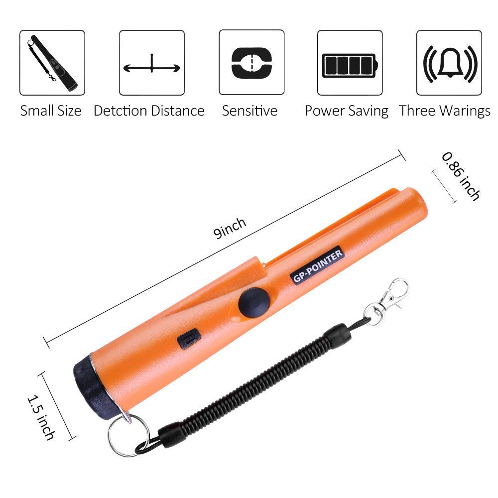 Wand Water Proof Stick Pinpointer Metal Detectors Handheld Pin Pointer Metal Detectors for Adults