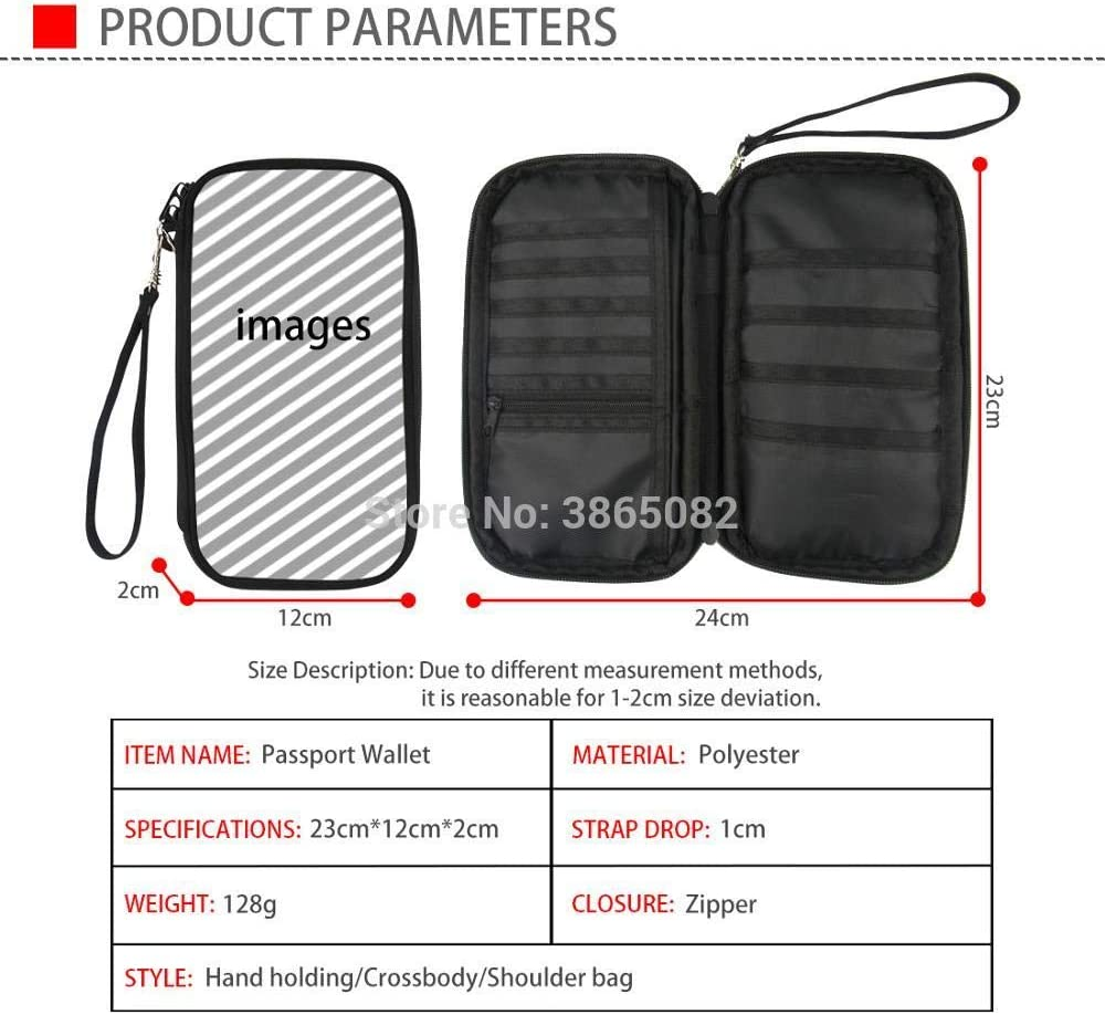 TZY Professional Travel Passport Wallet Hand Holding Bag color grid vortex Multifunction Credit Card Package ID Holder StorageCC3032Z6