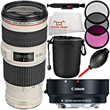 MUST-HAVE KIT FOR Canon EOS M, EOS M2, EOS M2 MARK II, EOS M3, EOS M10. Includes Canon EF 70-200mm f/4L USM Lens + Canon EF-M Lens Adapter Kit for Canon EF / EF-S Lenses 6098B002 + Lens Pen + Dust Blower + Microfiber Cleaning Cloth - International Version (No Warranty)