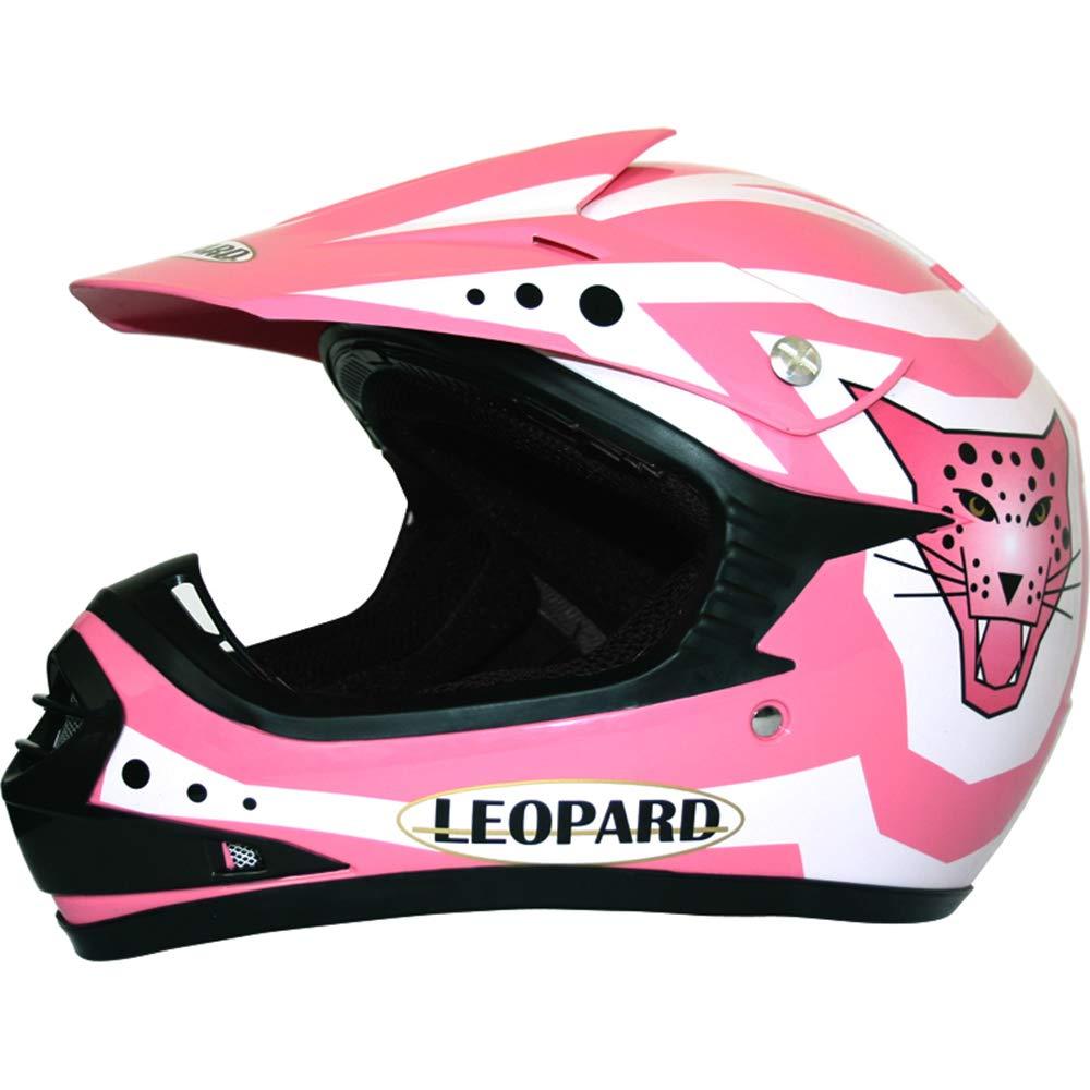 Black//White M 51-52cm Leopard LEO-X17 KIDS MOTOCROSS HELMET Children Quad Dirt Bike Crash Motorbike ATV Helmet