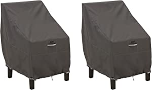 Classic Accessories Ravenna High Back Dining Patio Chair Cover (2-Pack)