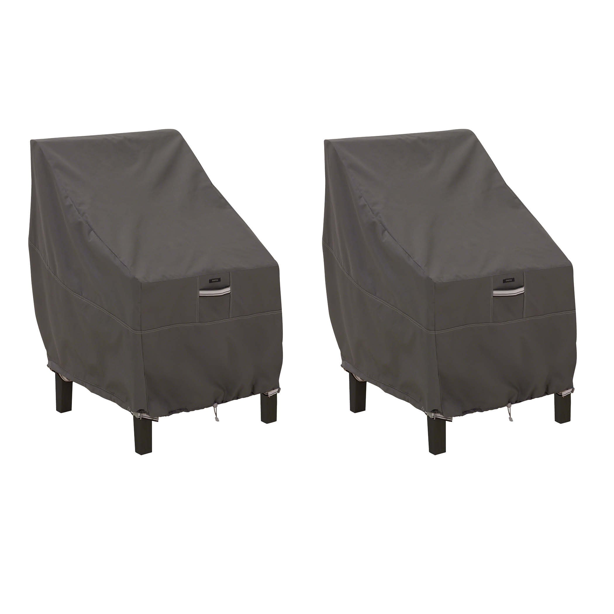 Classic Accessories 55-144-015101-2PK Ravenna High Back Dining Patio Chair Cover (2-Pack)