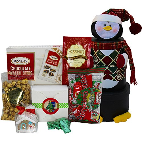 Penguin Stacking Christmas Holiday Gourmet Snacks Tower