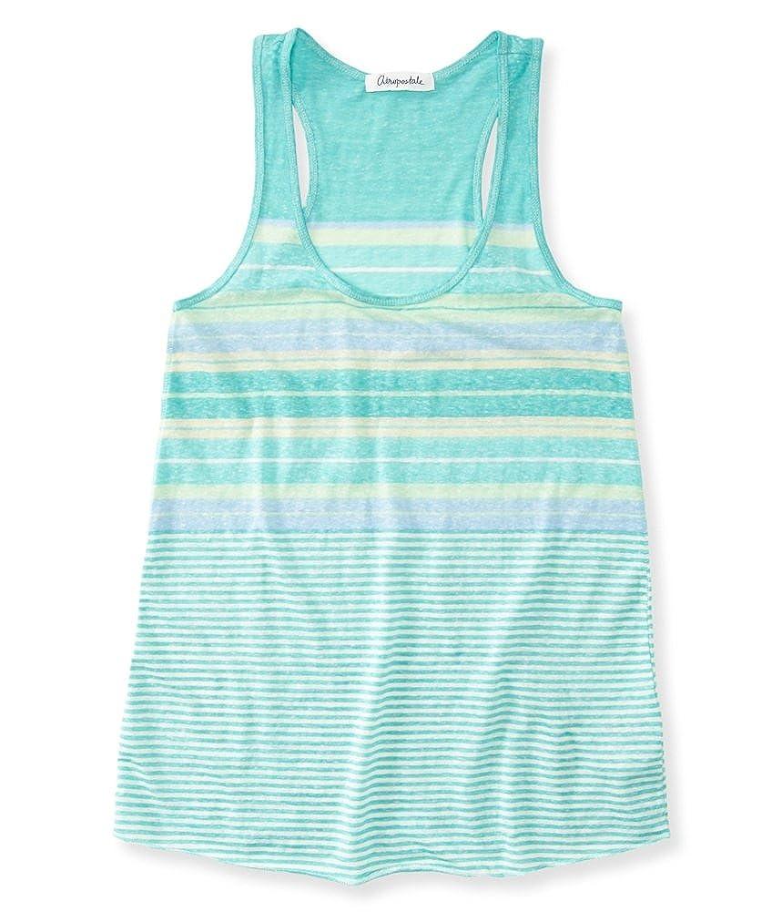 884a64e4f5 Amazon.com  Aeropostale Womens Multi Stripe Tank Top Blue L - Juniors   Clothing