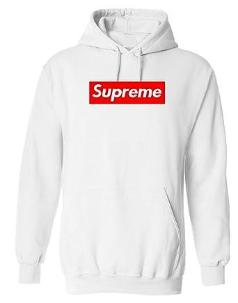 Dream Supreme White Hoodie - White -  Amazon.co.uk  Clothing 3fb4df69ee83
