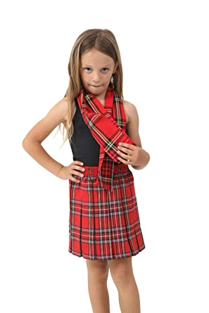fashioncrazexx - Falda de Cuadros Escoceses chapada en Caja roja ...