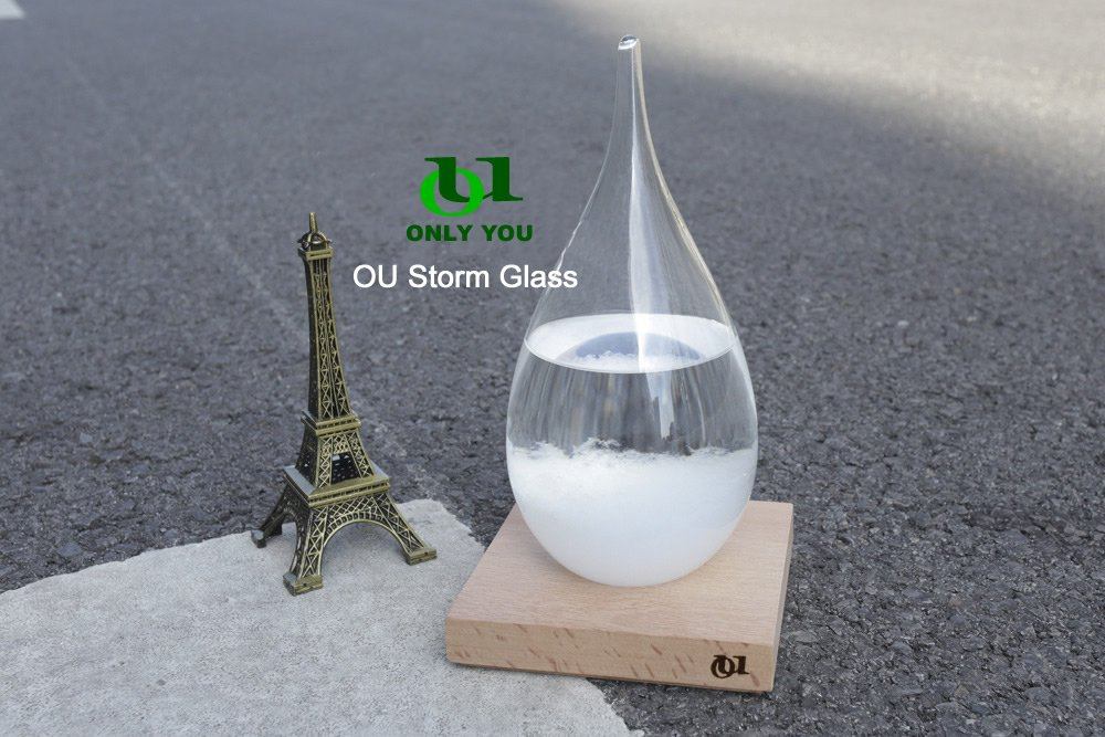 OU Creative Stylish Desktop Weather induction glass of 17th Century Europe Weather Monitors Weather Forecast Weather Station