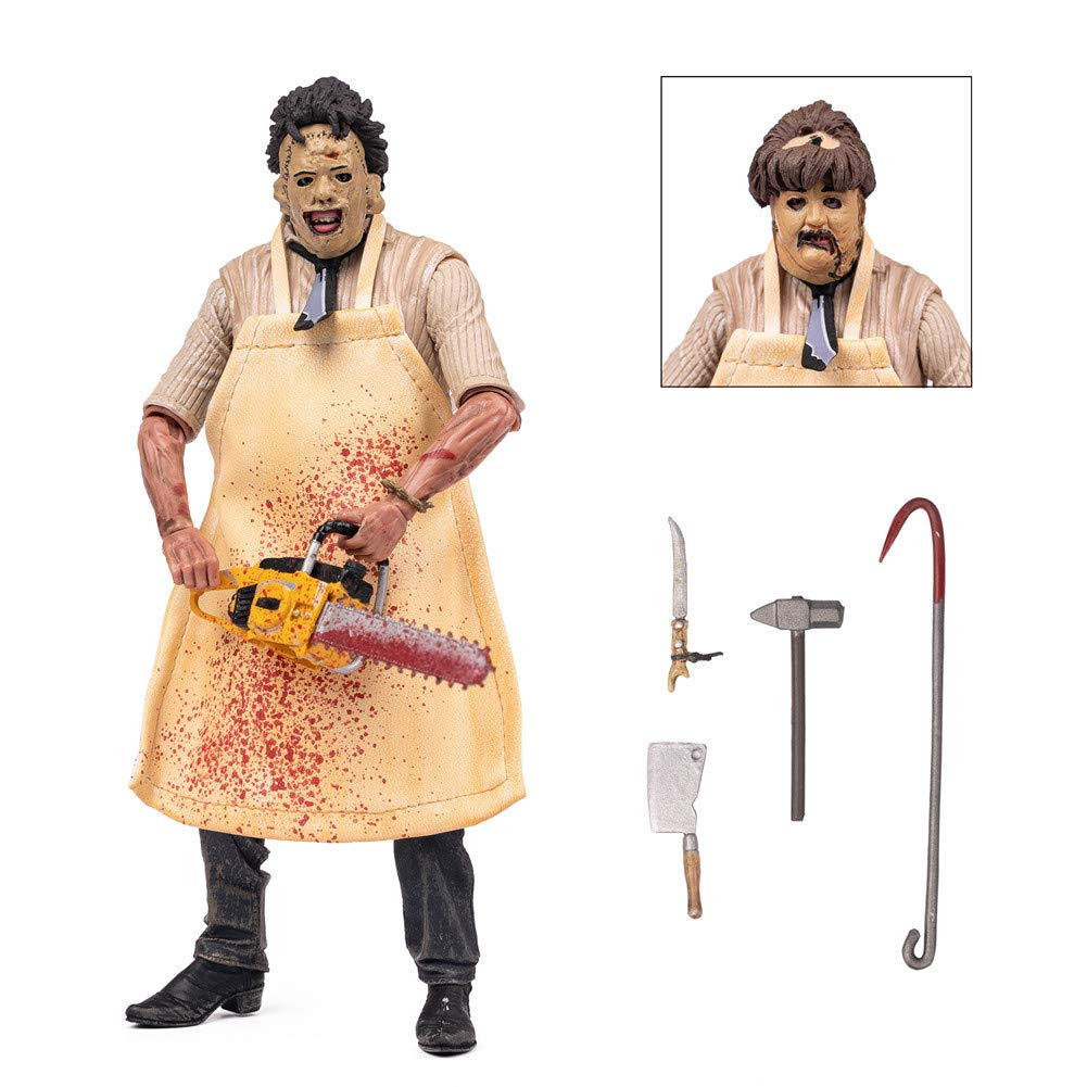 BODAN NECA Action Figure Texas Chainsaw Massacre Ultimate Leatherface Action Figure Statues Model Doll Horror Collection Gifts - PVC 7'' Scale