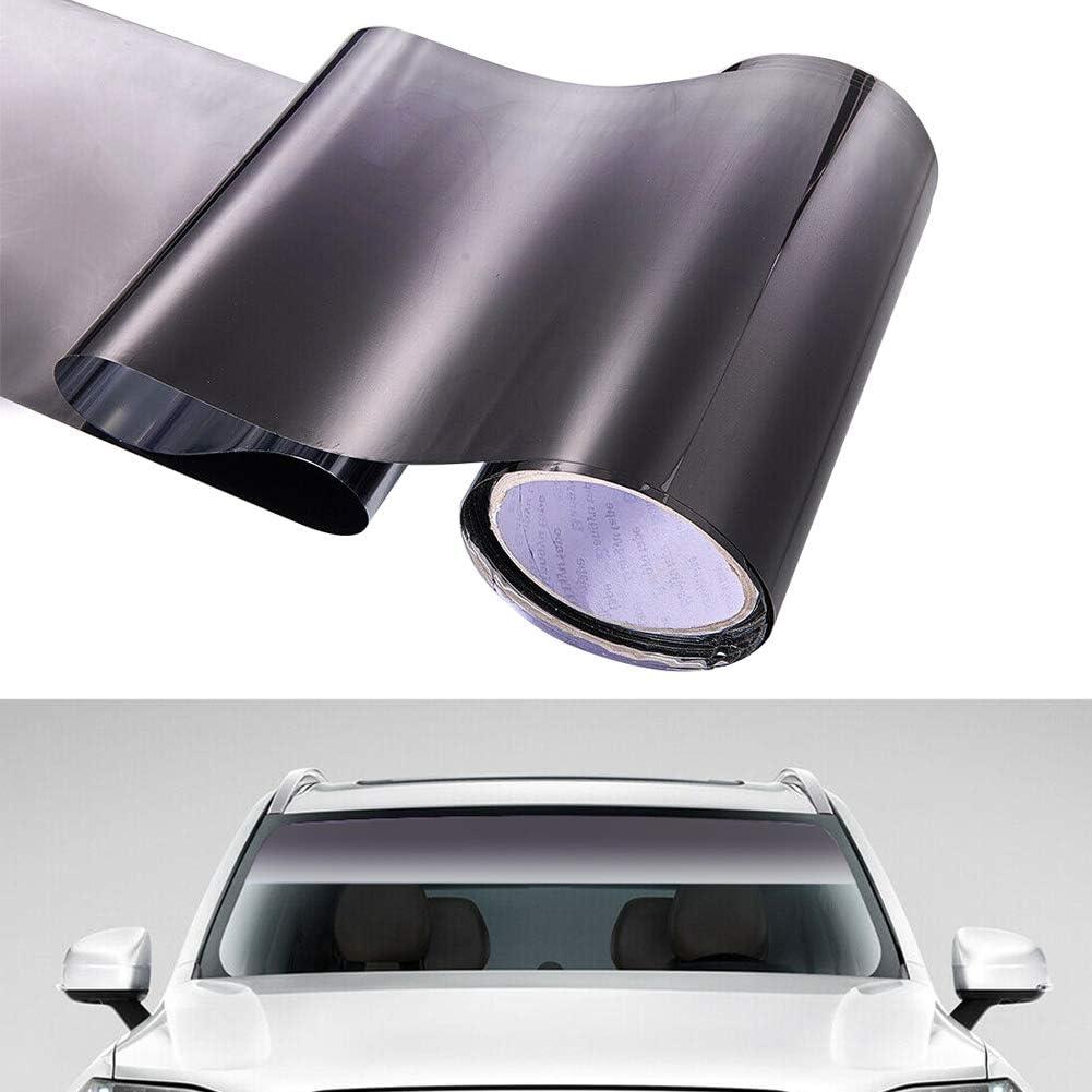 RENNICO Car Sun Shade Vinyl Windscreen Cover Protector Car Front Window Sun Visor Dust Cover Colors Sticker
