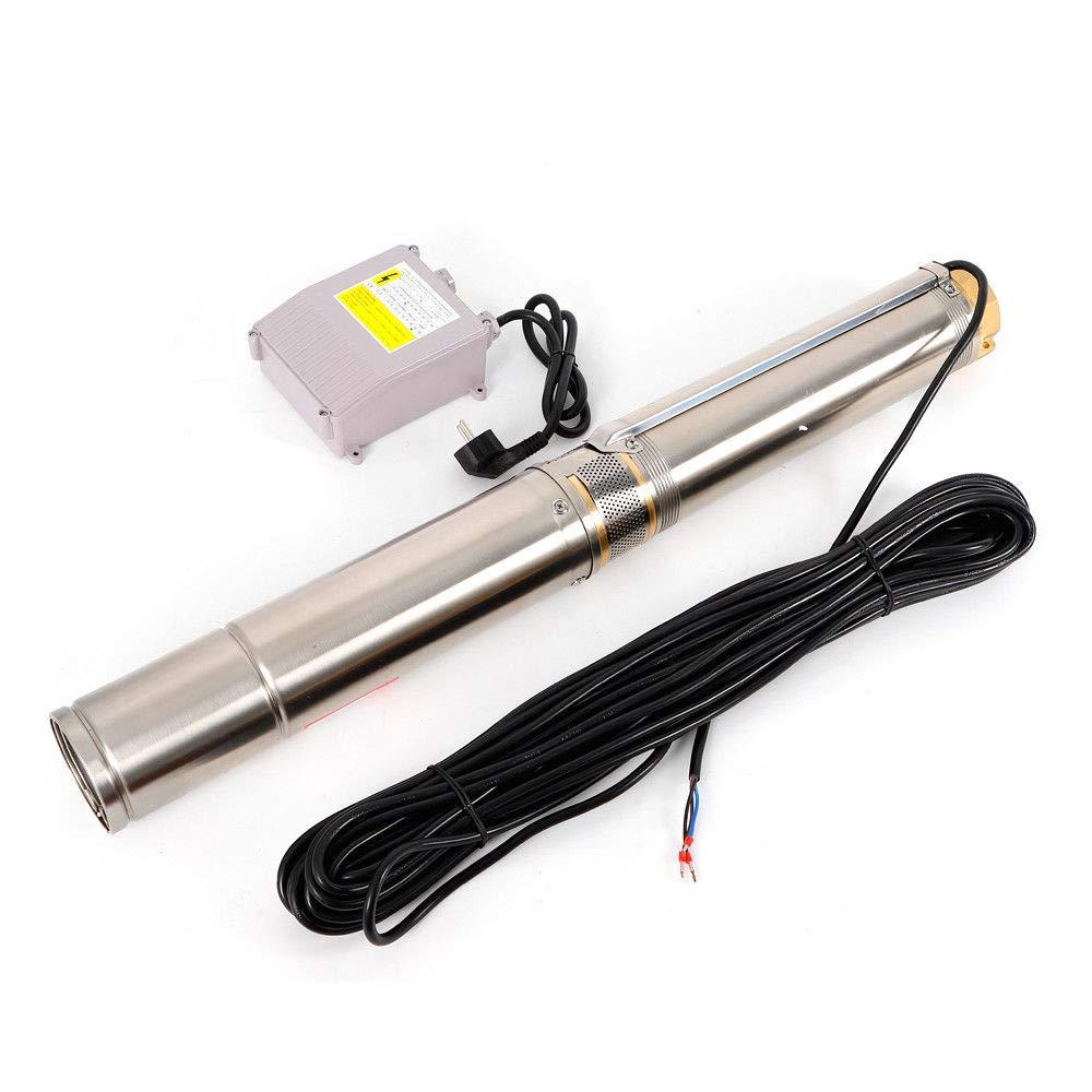 12 Stainless Steel Submersible Pump Water Pump Pipeline Pump Borehole Pump 4000 L//h 1100W Deep Well Pump 4SDM4
