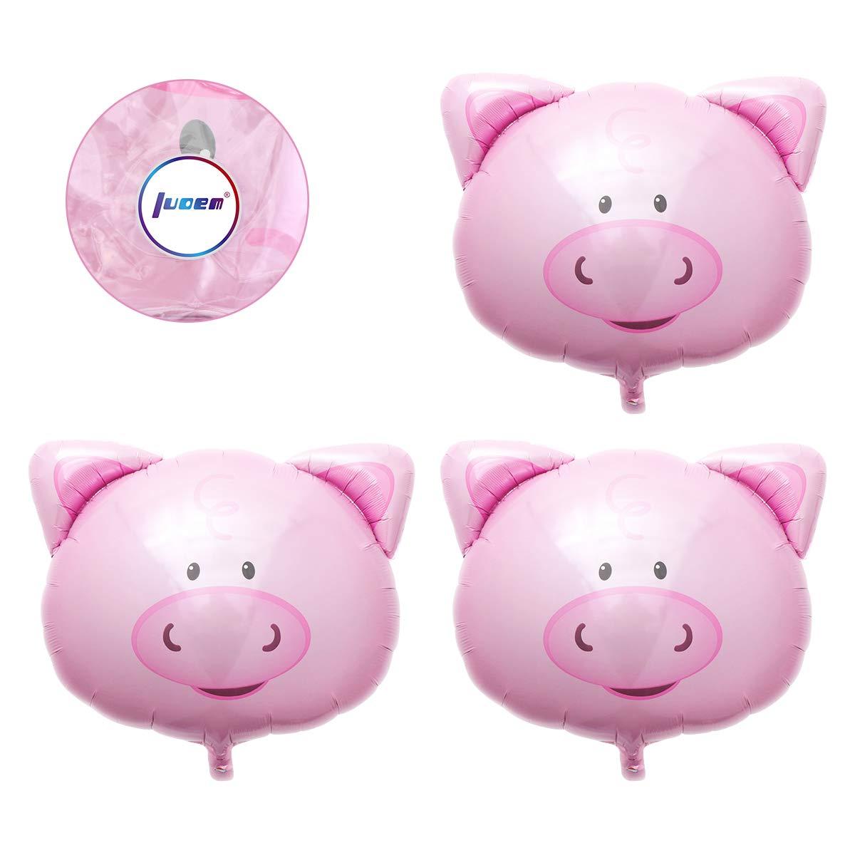 Amazon.com: LUOEM 4pcs Pig Mylar Globo Rosa Pig Cabeza ...