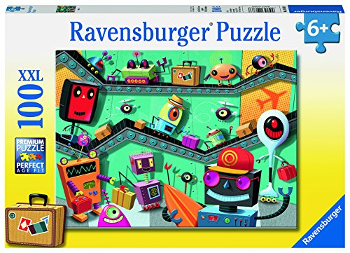 Ravensburger Robots Jigsaw 100 Piece Jigsaw Puzzle for Kids – Every Piece is Unique, Pieces Fit Together Perfectly