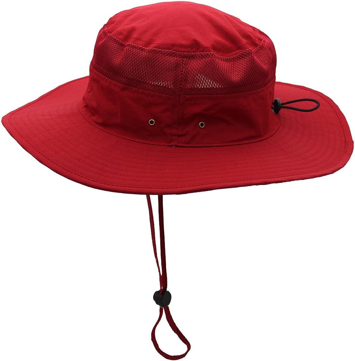 Verschiedene Farben Outfly Wide Brim Sonnenhut Mesh Bucket Hut Leichtgewicht Bonnie Hut Perfekt f/ür Outdoor-Aktivit/äten