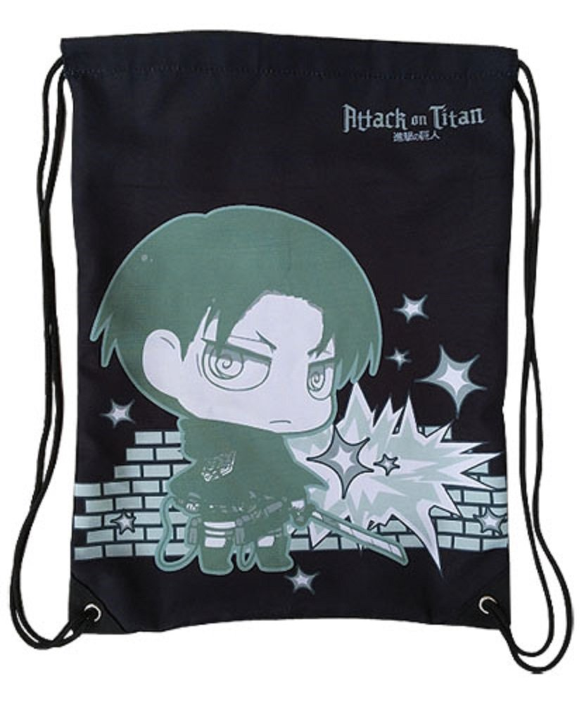 Attack On Titan - Levi Drawstring Bag by GE Animation