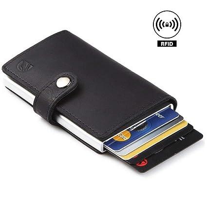 Amazon dlife credit card holder rfid blocking wallet slim dlife credit card holder rfid blocking wallet slim wallet pu leather vintage aluminum business card holder colourmoves