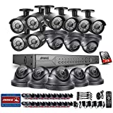 ANNKE 32-Channel Security Camera System H.264 720P/1080N Video DVR Recorder with 2TB Surveillance Hard Disk Drive and (16) 1280TVL 1.0MP Weatherproof CCTV Camera with Superior Night Vision