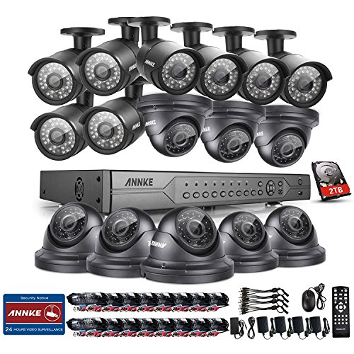 ANNKE 32-Channel Security Camera System H.264 720P/1080N Video