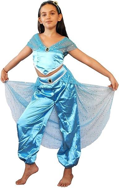 Disfraz de niña jazmín - princesa - árabe - disfraz - odalisca ...
