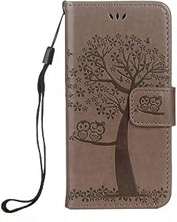 BoxTii® Coque pour Apple iPhone Se / 5 5S, Multi-Usage Gaufrage Portefeuille iPhone 5 5S Étui en Cuir avec Gratuit Protection D'écran en Verre Trempé et Porte-Cartes (Rose Rouge)