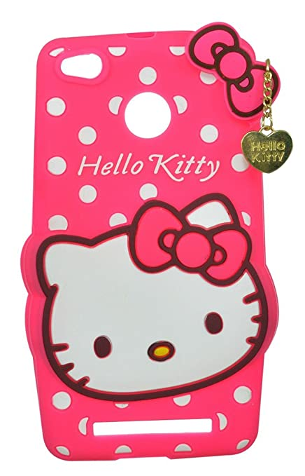 newest 247ee 47d76 ANVIKA Hello Kitty Back Cover for Xiaomi Redmi 3s Prime - Pink