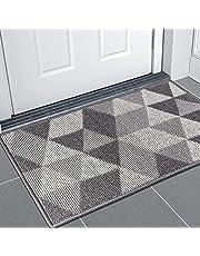 """Indoor Doormat,Front Door Mat Low-Profile, Non-Slip Water Absorbent Resist Dirt Outdoor Entrance Rug, Machine Washable Inside Mat Area Rug for Entryway 20""""x 32"""""""