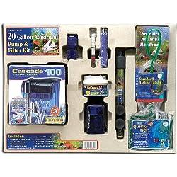 Penn-Plax Aquarium Pump and Filter Starter Kit for 20 Gallon Aquaria