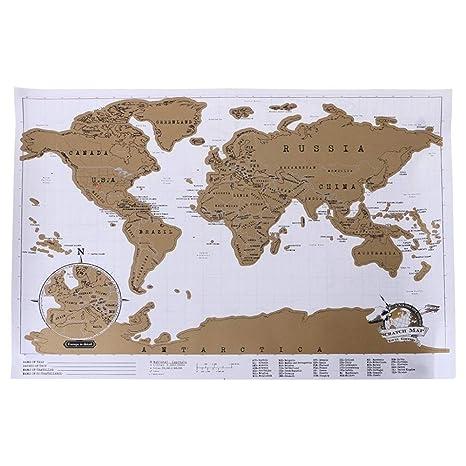 DYHM Mapa del Mundo Atlas del Cartel del Viaje de la Novedad ...
