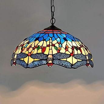 Tiffany Libélula Decoración Colgante de luz Vistoso Vaso ...