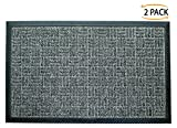 Iron Gate - 2 Pack Gatekeeper Doormat 18x30 Dark Grey - Extremely sturdy and rugged construction 69...