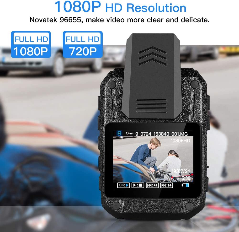 32GB Version BOBLOV Body Worn Camera Built in 32GB 1080P,Portable Multi-Functional 170/° IR Night Body Mounted Camer Vision DVR Video for Police Officers Security Guards and More