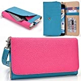xolo opus 3 mobile phone - Teal/Hot Pink XOLO Era, Cube 5.0, A1010, Win Q1000, 8X-1020, Omega 5.0, Opus 3, Q1020, Opus HD, Play 8X-1100, Case   Cell phone Wallet & Wristlet for Women