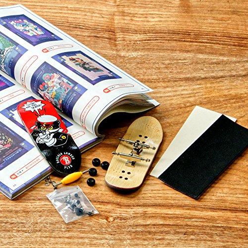 SOLDIERBAR Fan Team 9.0 Bamboo Finger Skateboards (Deck,Truck,Wheel Set for PRO) (Mr.Black) by SOLDIERBAR (Image #1)