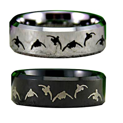 Duck Band Wedding Rings For Men Hunting Promise Rings For Him