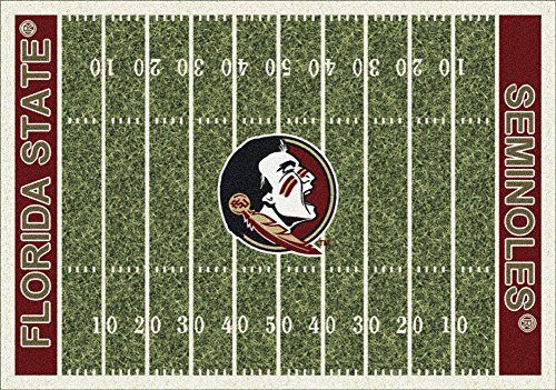 Florida State University Carpet (Milliken 4000018603 Florida State College Home Field Area Rug, 5'4