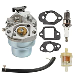 Harbot Carburetor+Fuel Filter+Spark Plug+Rebuild Gasket kit for Honda GCV160 GCV160A Engine HRB216 HRR216 HRS216 HRT216 HRZ216 Lawn Mower