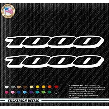 Amazoncom  X  Decals White Vinyl Stickers Suzuki GSXR - Custom vinyl stickers 1 x 2