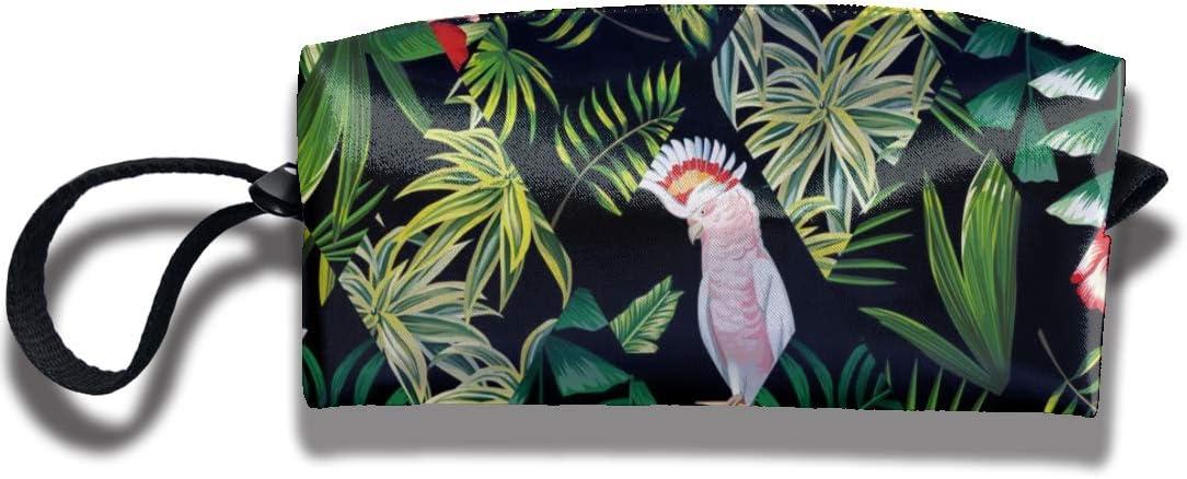 Doinh Tropical Patchwork - Bolsa de cosméticos con Cremallera, diseño de retales, Color Negro