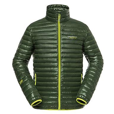 emansmoer Homme Puffer Packable Ultra léger Doudoune Veste vers Le Bas Hiver  Outdoor Sport Veste de 7b87e22619af
