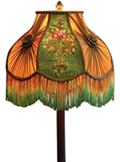 Smoky mauve lampshade amazon victorian gone with the wind bed and breakfast velvet embroidered lamp shade flower urn 16 aloadofball Image collections