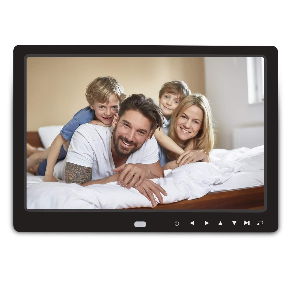 Digital Photo Frame,RegeMoudal 12 Inch Picture Frame with Remote Control 1080P High Definition, Support 32G SD and USB, Various Display Modes, for Pictures and Videos(Black)