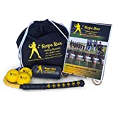 RB The Rope Bat Hitting System - Baseball Swing Trainer w/ Smushballs - for a Perfect Swing! (Ultimate Rope Bat w/ 3 Balls)