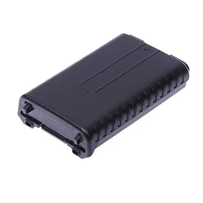 6X AAA Caja de la Caja de batería extendida para BAOFENG UV-5R 5RA 5RB 5RC 5RD 5RE + Banco de Potencia IqosBattery Holder (Negro): Electrónica