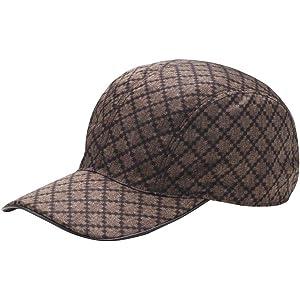 17b9aacc76e Gucci Unisex Diamante Brown Nylon Baseball Hat with Trademark Logo 268897  9643 (XL)