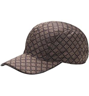 17b9aacc76e Gucci Unisex Diamante Brown Nylon Baseball Hat with Trademark Logo 268897  9643 (XL)