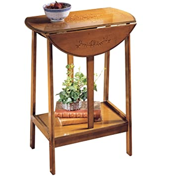 amazon com wooden english dropleaf accent table brown kitchen