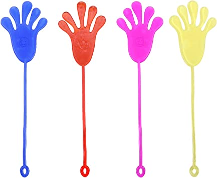 Toyvian Palmas de Escalada Sticky Jelly Hands Juguetes novedosos Juguetes pegajosos para niños 12 Piezas