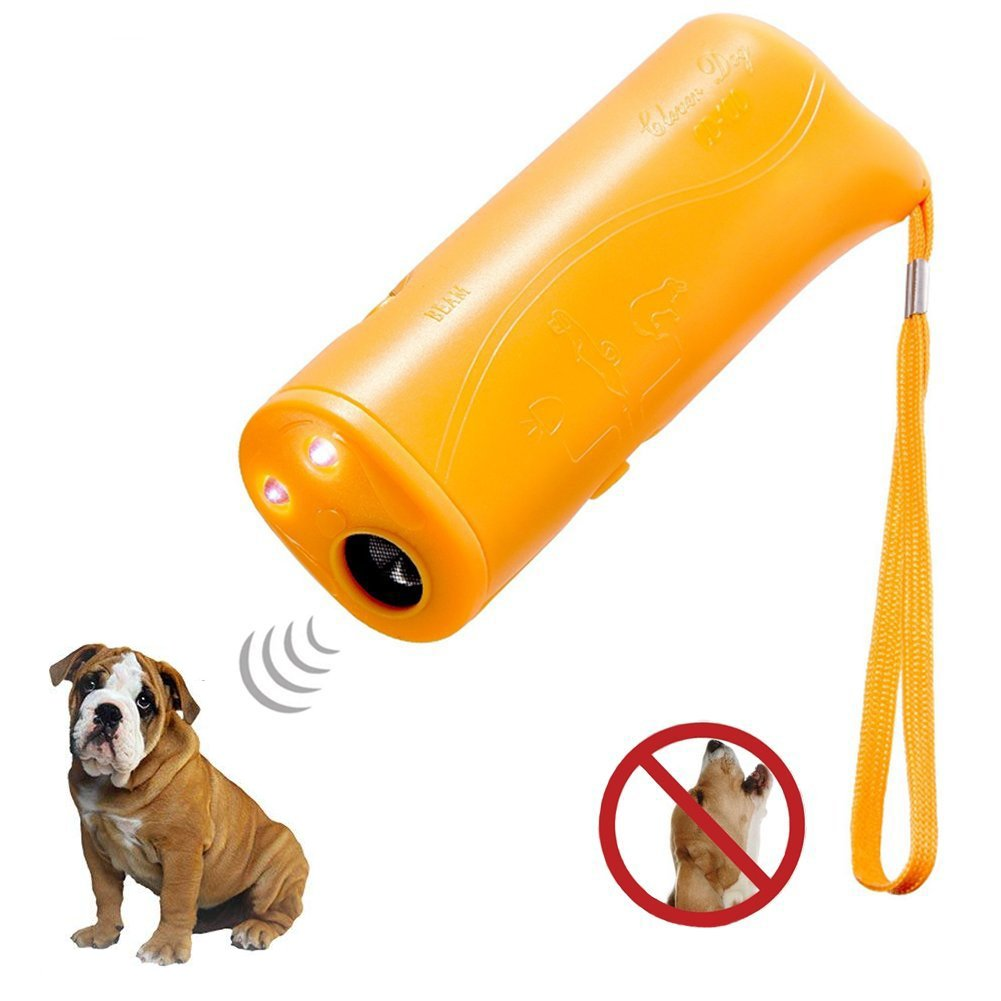 Brocase Ultra Sonic Dog Repeller, 3 in 1 Portable Stop Barking Anti Barking Device, Handheld Dog Trainer Pet Training Device Outdoor Bark Controller with LED Flashlight, No Harm to Humans & Pets